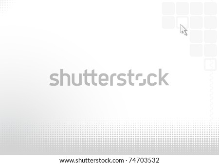 Abstract light silvery background with the computer cursor