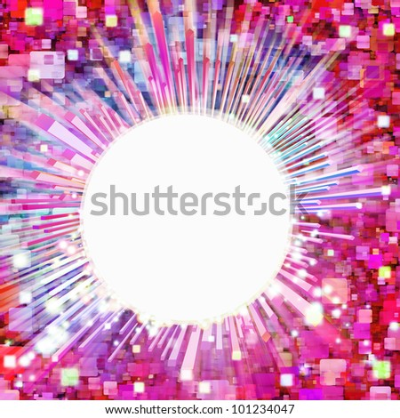 abstract lighting effects and graphic design