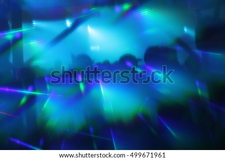 Abstract Lights Nightclub Dance Party Background And Lasers 499671961
