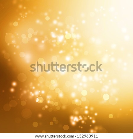 Abstract Lights on Gold Colored Background