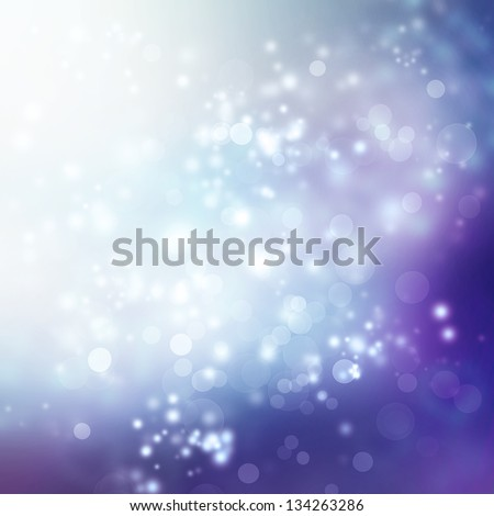 Abstract Lights on Purple and Blue Colored Background
