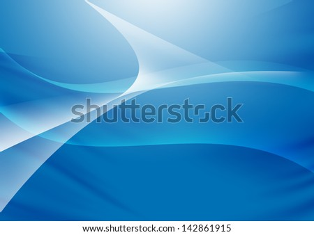 Abstract lines and curve blue background