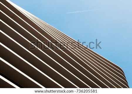 Abstract lines of building structure. Abstract color and design.