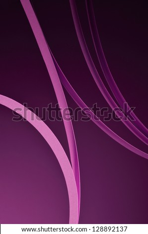 Abstract lines on purple background