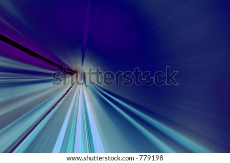 Abstract lines tunnel shot of a underground train track. Inversed version included