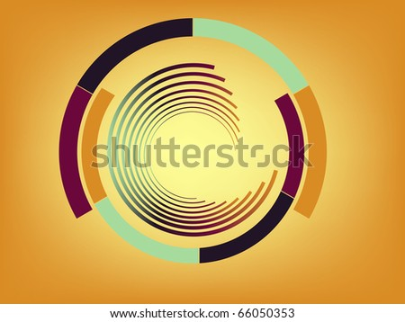Abstract lines with circles. Look for vector version in my portfolio.