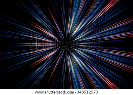 Abstract long exposure, speed lines motion  #348512570