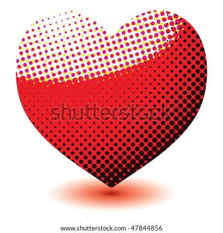 Love Heart Abstract. stock photo : Abstract love