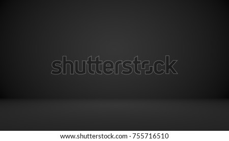 Abstract luxury black gradient with border vignette background Studio backdrop - well use as backdrop background, studio background, gradient frame. - Shutterstock ID 755716510