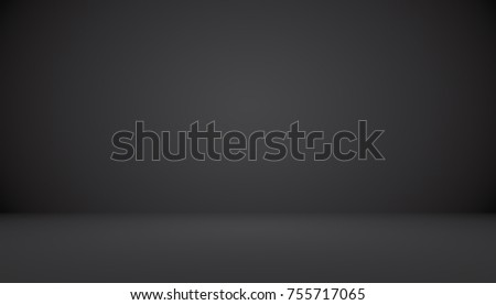 Abstract luxury black gradient with border vignette background Studio backdrop - well use as backdrop background, studio background, gradient frame. - Shutterstock ID 755717065