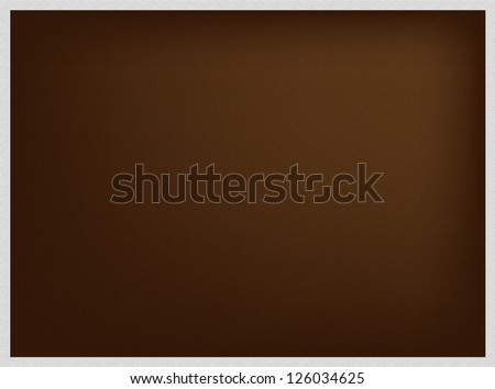 Abstract Luxury Brown Background with A Grey Border Frame with Copy Space for Text Decorated