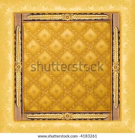 Abstract luxury golden border