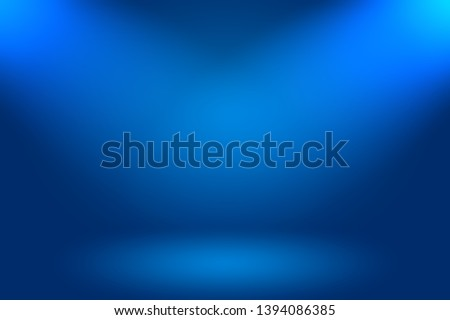Abstract Luxury gradient Blue background. Smooth Dark blue with Black vignette Studio Banner.