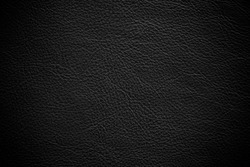 Abstract luxury leather black texture for background. Dark Gray color leather for work design or backdrop product.