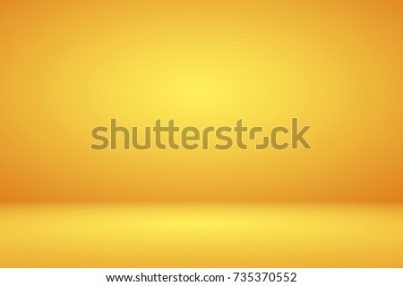 Abstract luxury mix yellow orange amber gradient background empty room for display product ad and website