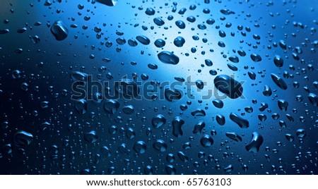 Abstract macro of water drops