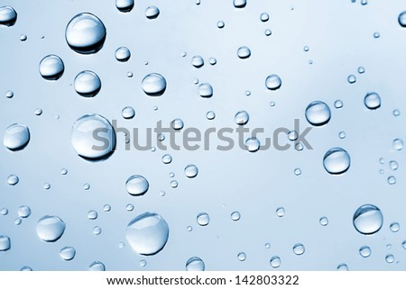 Abstract macro photo background with water drops on glass