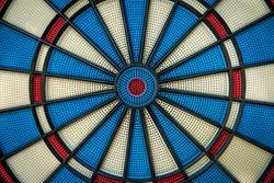 Abstract macro shot of a professional dartboard.