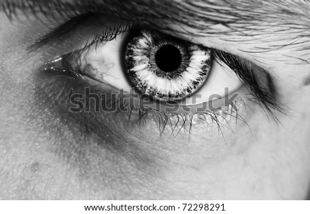 Abstract male eye