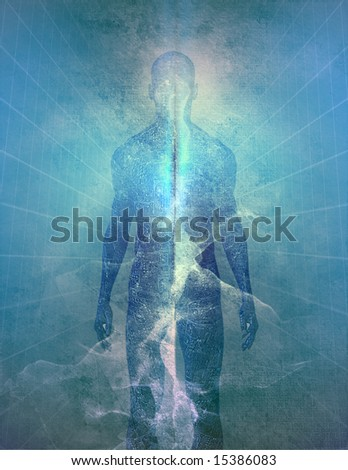 Abstract man of light