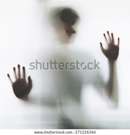 Abstract Man Shadow