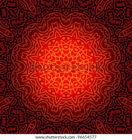 Abstract Mandala Design Pattern