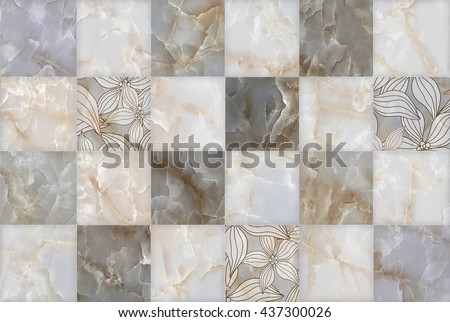 Abstract Marble Stone Blocks Pattern