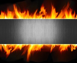 abstract metal and fire flame background