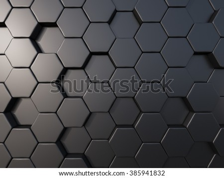 abstract metal bee hive background random bee hive , hextagon background
