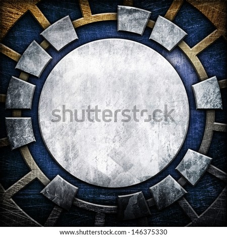 abstract metal template