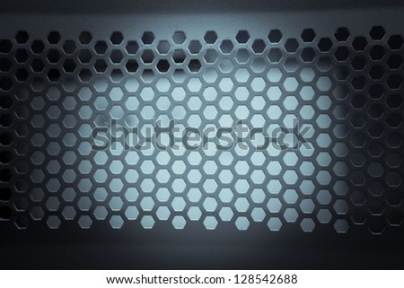 abstract metallic background in a grid