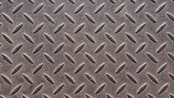 Abstract metallic background. Old metal plate with a seamless repeating pattern. An interesting steel pattern for your projects.