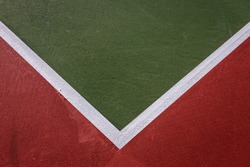 Abstract Minimal Background of Corner of Tennis Court