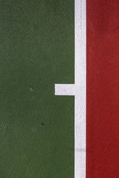 Abstract Minimal Background of Lines on a Tennis Court