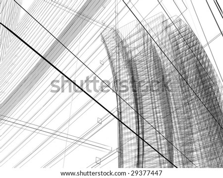 abstract modern architecture #29377447
