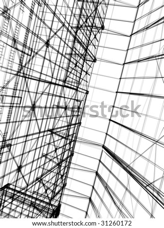 abstract modern architecture #31260172
