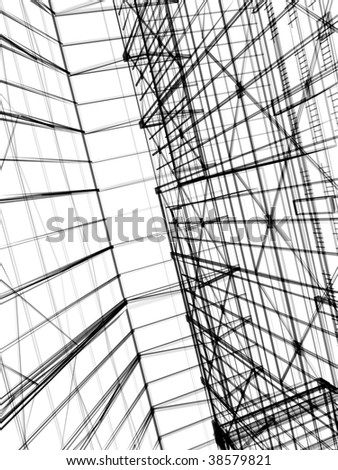 abstract modern architecture #38579821