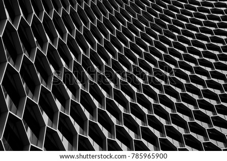 Abstract modern architecture background. Texture, pattern, geometry