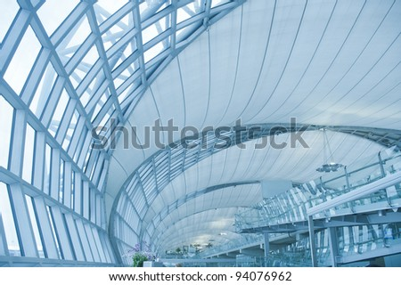 abstract modern architecture building in Bangkok airport,thailand,asia.