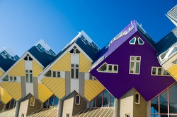 abstract modern architecture cube houses