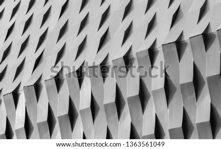 Abstract modern architecture.modern architecture detail.Texture, pattern, geometry,Black and white