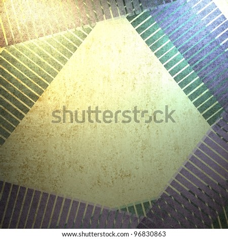 abstract modern art background with contemporary layered border with beige center with copyspace for text or report title