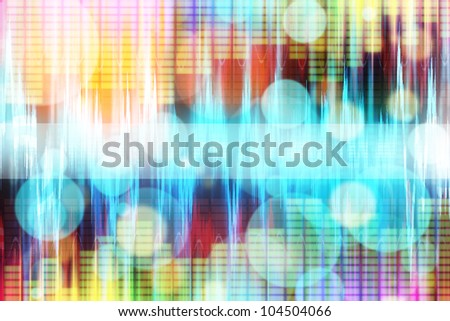 abstract modern colored equalizer theme background