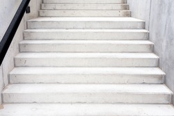 Abstract modern concrete building - stairway composition