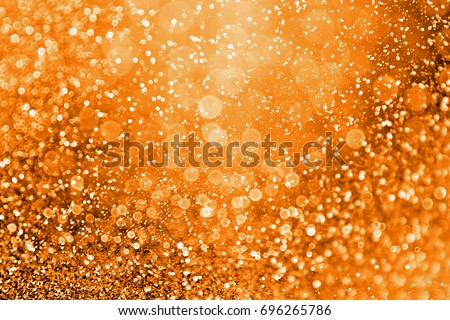 Abstract modern dark orange glitter sparkle background for happy birthday invite, spooky Fall Halloween party magic pattern, October kid trick or treat night, fire, Thanksgiving Autumn gala or sale