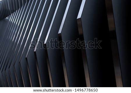 Abstract Modern Exterior Architecture. Abstract business interior in minimalism or hi-tech design
