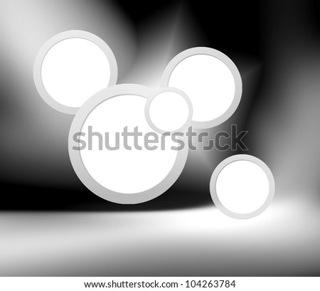 Abstract modern space gallery background