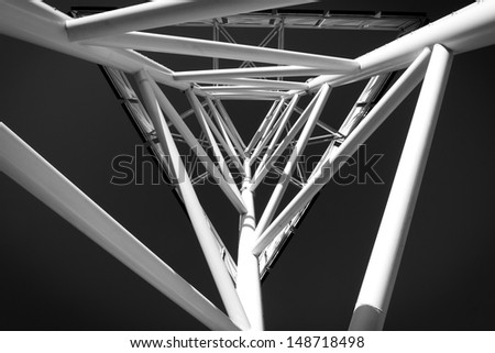 abstract modern technology structure in black and white