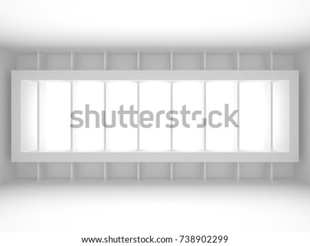 Abstract Modern White Architecture Background. 3d Render Illustration #738902299