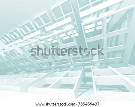 Abstract Modern White Architecture Background. 3d Render Illustration #785459437